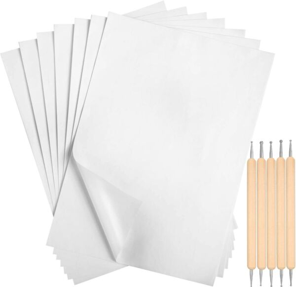 White Carbon Transfer Paper 11.7 x 8.3 Inch Tracing Paper Carbon Graphite 105 $13.89