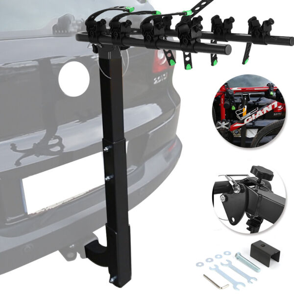 Premium Carrier Rack 4 Bike Hitch Mount Swing Down Bicycle Rack W 2quot; Receiver $85.20