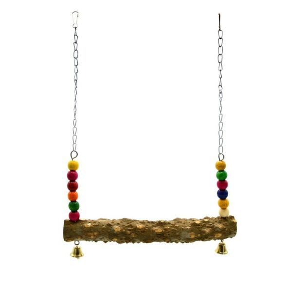 Chicken Swing Toys with Natural Wooden for Hens Large Bird Parrot Macaw Training