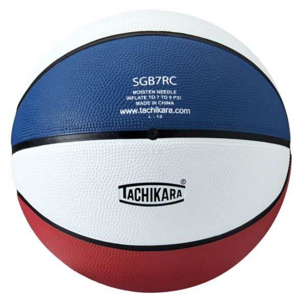 Basketball Tachikara size 7 29.5quot; Rubber Indoor Outdoor in Red White and Blue $22.88