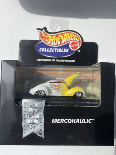 Hot Wheels Collectibles MERCOHAULIC Custom Classic Car White Die Cast 1 64 Scale