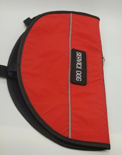 Petdogree Lightweight Reflective Service Dog Removable Patches Red L Large red $19.99