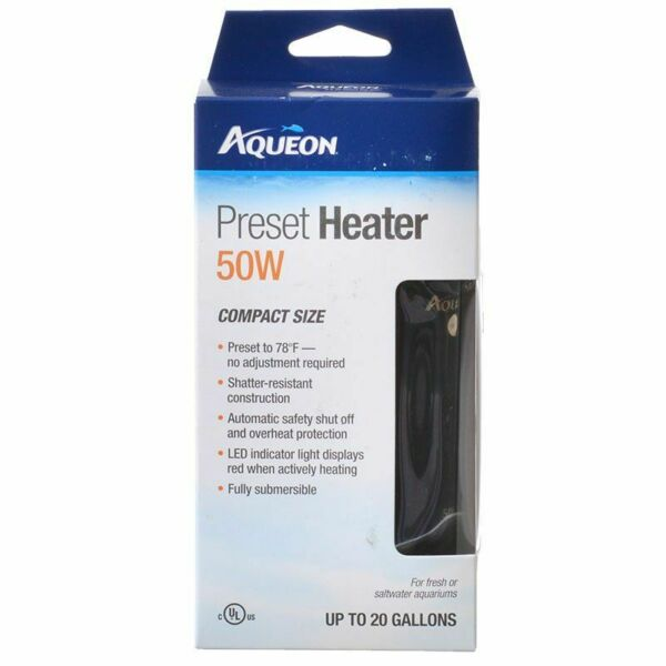 Aqueon Preset Aquarium Heater 50 Watt Aquariums up to 20 Gallons $20.24