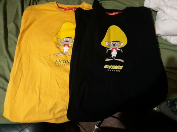 Two Classic iceberg history Speedy Gonzalez T Shirts. Barely worn both sz L $85.00