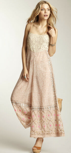 Free People New Romantics Blush Pink Sequin Sheer Lace Romper Nordstrom XS NEW