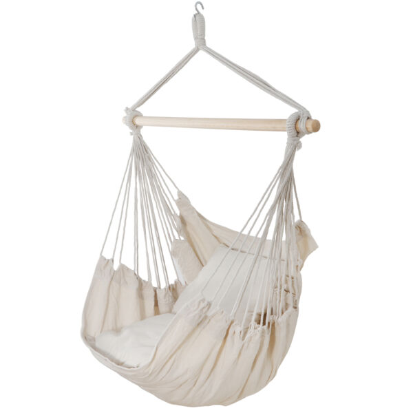 Beige Outdoor Porch Lounge Air Hammock Swing Chair Patio Tree Hanging Sky $27.99