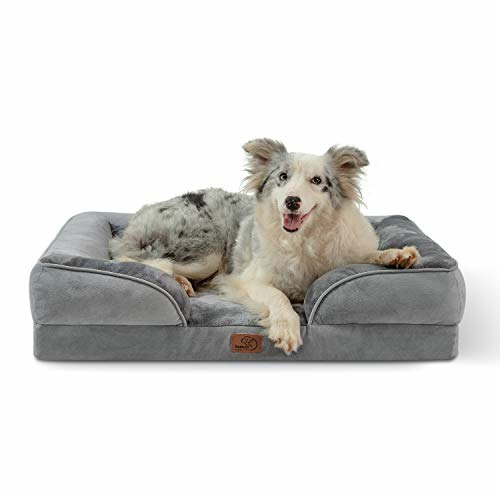 Bedsure Orthopedic Large Dog Bed Foam Dog Sofa with Removable Washable Cover $63.79