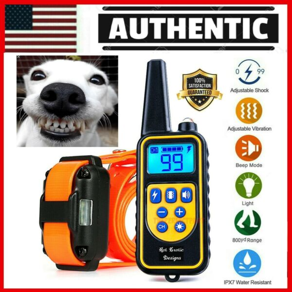 2625 FT Remote Dog Shock Training Collar Rechargeable Waterproof LCD Pet Trainer $26.75