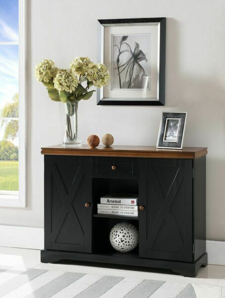 Kings Brand Furniture Wood Buffet Server Cabinet Console Table Black Walnut
