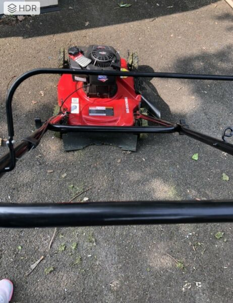 Hyper Tough 20quot; Side Discharge Push Mower with Briggs and Stratton Engine 125 cc $110.00