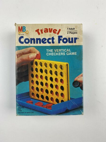 TRAVEL CONNECT FOUR Vintage 1983 Milton Bradley Portable Connect 4 Game COMPLETE