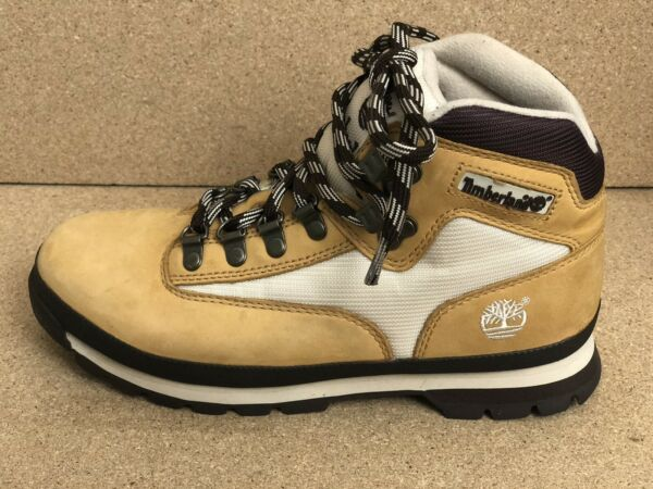 Woman Timberland Boots Hiking Shoes 85386 Nubuk Camel Work Beige Leather US 8.5M $29.99
