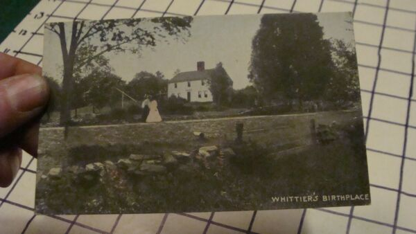 Vintage Postcard: HAVERHILL MASS OLD FIREPLACE WHITTIER#x27;S BIRTHPLACE unused