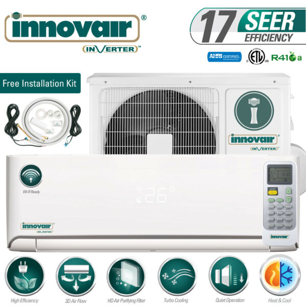 18000 BTU Mini Split Air Conditioner Heat Pump Ductless 230V INNOVAIR 17 SEER $829.00