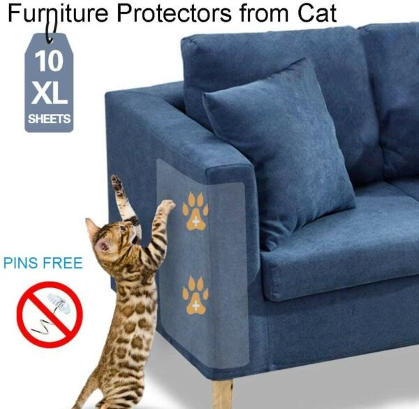 10 Pack Clear Anti cat scratch double sided tapeFurniture Protectors from Cat $18.99
