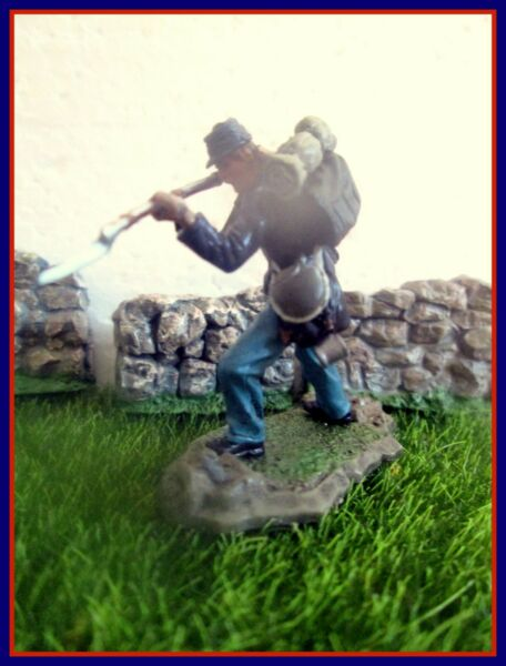 Forces o Valor Union Infantry ACW 6 listed 54mm Civil War w Conte Barzso Britain