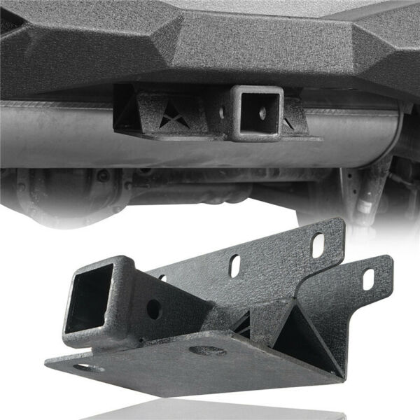 2inch Towing Trailer Receiver Hitch Matte Black Steel For Jeep Wrangler JL 18 21 $37.83