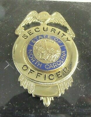 Obsolete New Cadet Gold Security Officer Badge Shield North Carolina NC Seal 2F1