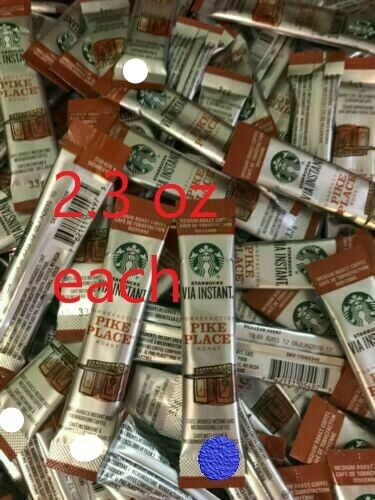 Starbucks VIA Instant Pike Place Coffee Med Roast 104Loose Packets BB 12 20
