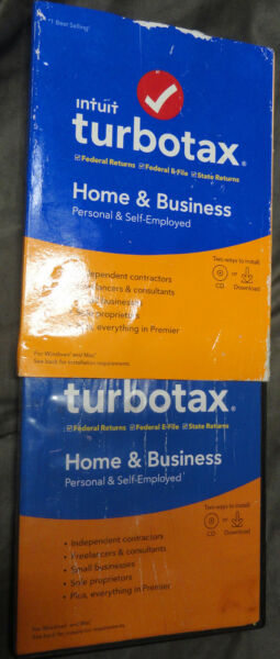 TURBOTAX Home amp; BUSINESS Federal STATE 2019 Retail SEALED CD Download