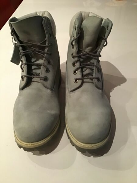 TIMBERLAND MEN'S PRE OWNED LIGHT GRAY NUBUCK 9 $40.00