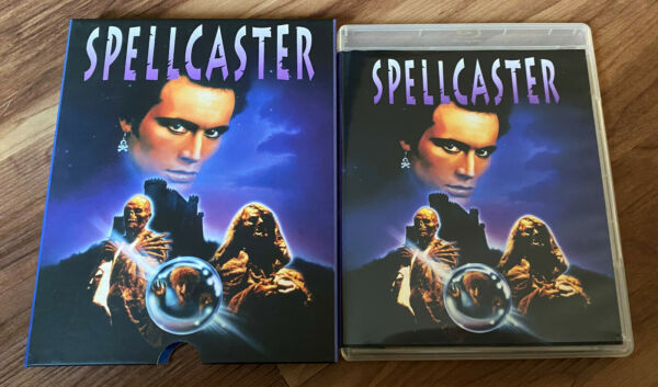 Spellcaster 1988 Blu Ray WITH Slipcover amp; 2 Sided Poster Vingear Syndrome $44.99