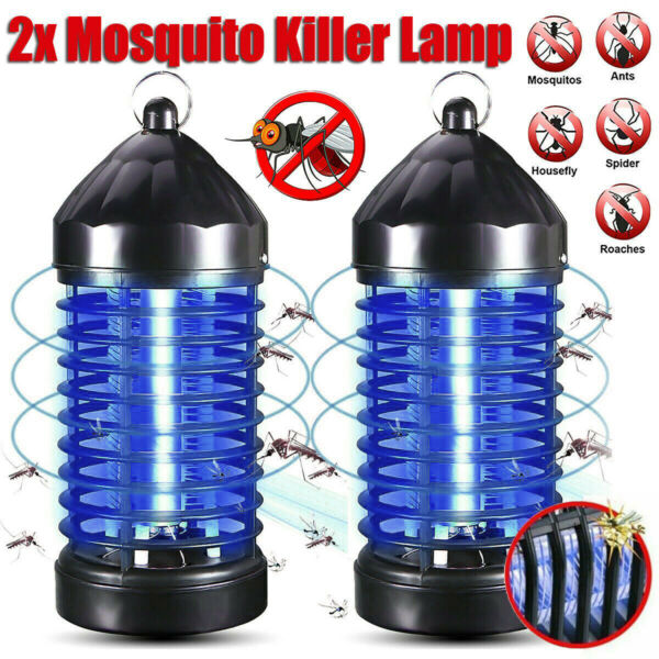 2Pack Electric UV Mosquito Killer Lamp Outdoor Indoor Fly Bug Insect Zapper Trap $19.88