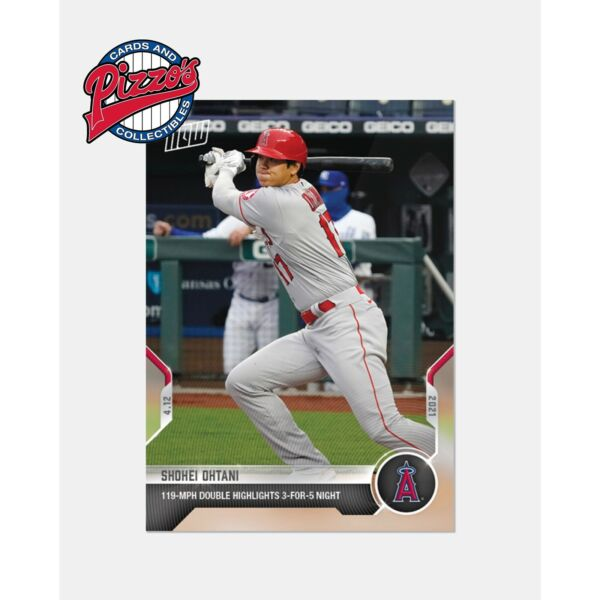 Shohei Ohtani 3 For 5 119 MPH Double 2021 MLB TOPPS NOW® Card 68 Pre Sale $6.99