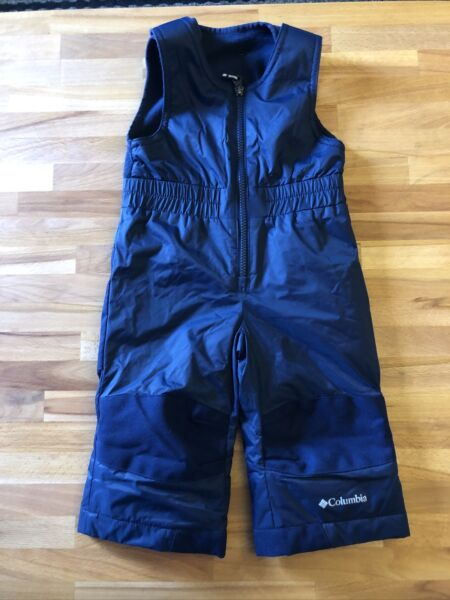 COLUMBIA BUNTING SUIT SNOW BIB PANTS Size 12 18 Month BABY Navy blue