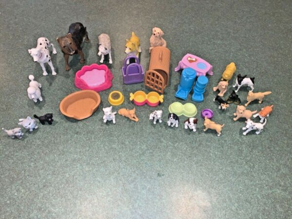 Lot of dog and cat figurines for children play set $6.00