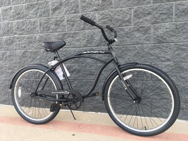 26quot; BEACH CRUISER BIKE w aluminum Frame  Firmstrong Urban Alloy Men Matte Black $299.00