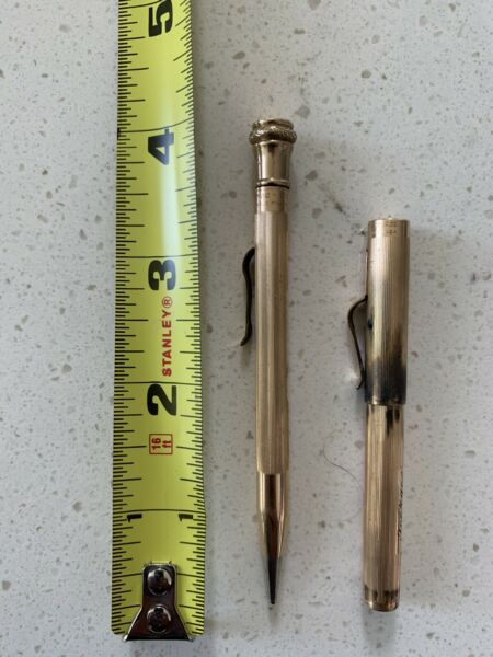 Antique Wahl Eversharp Co Gold Filled Pencil 1920s AND No O 14k Wahl Pen