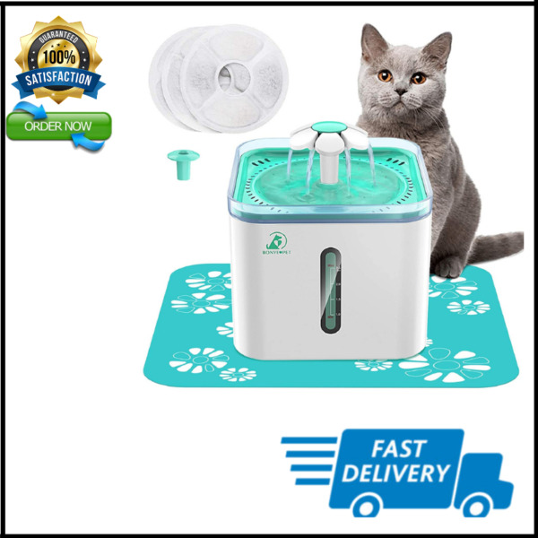 Cat Water Fountain 2.5L Automatic Pet Water Fountain for Indoor Dogs Cats Kitty $40.59