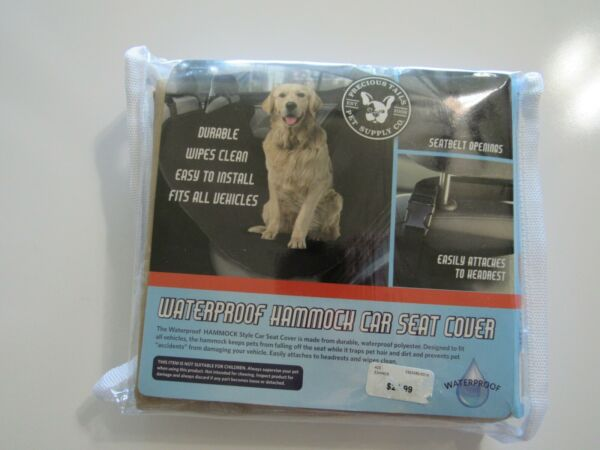 Precious Tails Pet Supply Co Waterproof Dog Hammock Car Seat Cover 53x53 Nwt $20.00