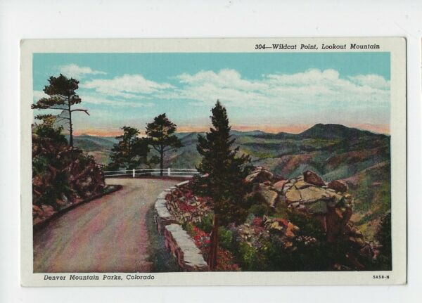 Vintage Wildcat Point Lariat Trail on the Road to Lookout Mountain Post Card $9.99