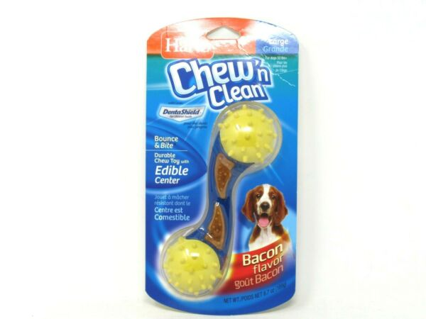 Hartz Chew#x27;n Clean Bounce amp; Bite Dog Chew Toy Large Bacon Flavor Pet Supplies $10.63