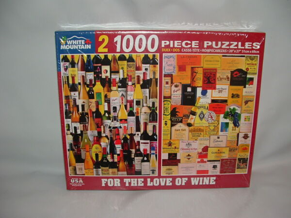 BRAND NEW 2000 PIECE WHITE MOUNTAIN FOR THE LOVE OF WINE JIGSAW PUZZLE SEALED $24.95