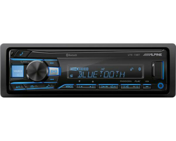 Alpine UTE 73BT Digital Media Receiver Does Not Play CD#x27;s 3 Band Equalizer