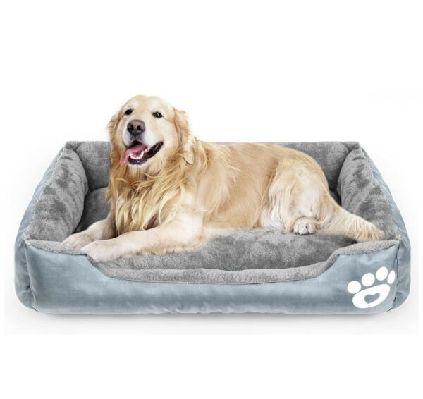 Calming Dog Bed Warming Washable Rectangle Sleeping Orthopedic Sofa Pet Bed XL $59.99