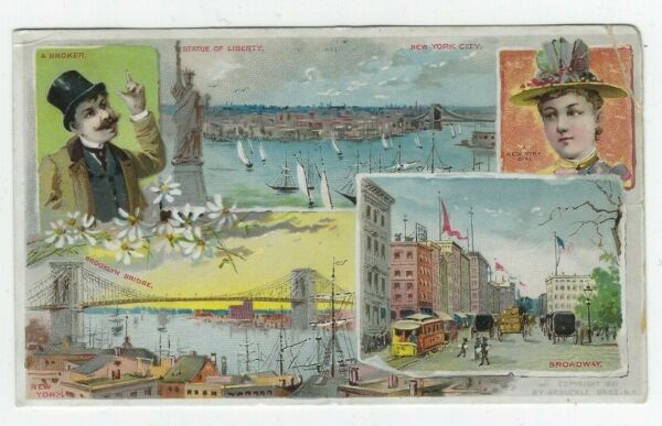 Arbuckle Bros Coffee Trade Cards New York Sights Copyright 1891
