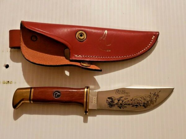 Ducks Unlimited 1995 Buck Fixed Blade Hunting Knife NIB