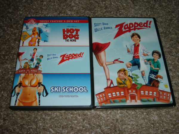 Hot Dog The Movie Zapped Ski School Triple Feature 3 DVD Set RARE OOP Like New $44.99