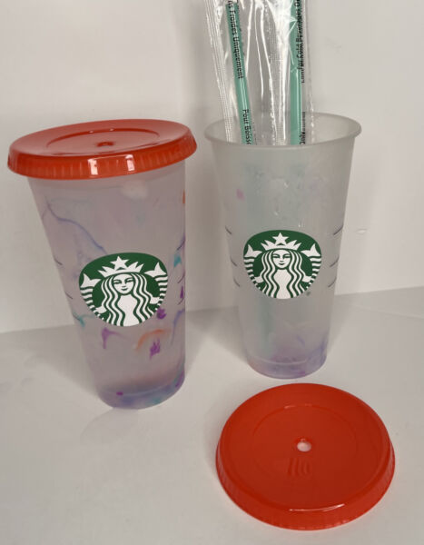Starbucks Color Changing 2021 Swirl Reusable Cold Cup Summer Marble New