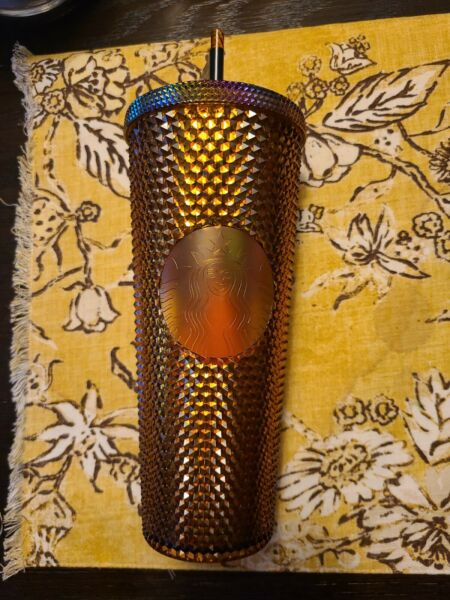 Starbucks 50th Anniversary 2021 Studded Tumbler Cup Venti Gold LIMITED EDITION