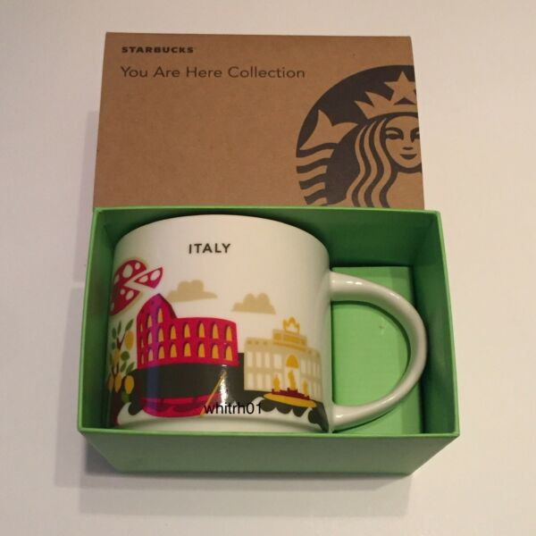 Starbucks Italy YAH Mug Pizza Colosseum Canal Boat Stadium Football You Are Here