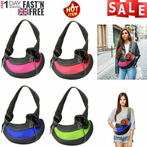 Portable Pet Sling Bag Pet Carrier Hands Free Breathable Mesh Travel Dog bag $11.99