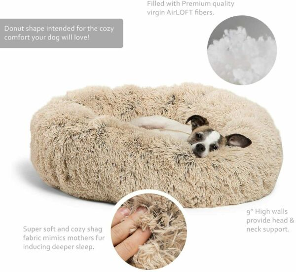 Washable Dog Bed Medium durable Dogs Soft Warm Pet Cat Calming Beds $23.15