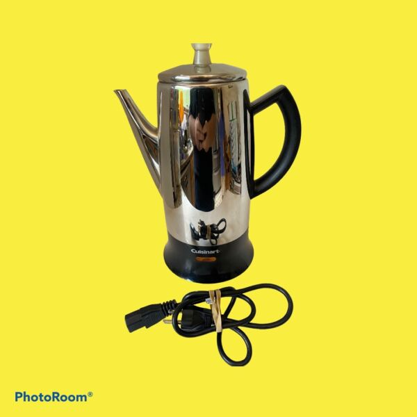 Cuisinart 12 Cup Electric Coffee Percolator Coffee Maker Chrome Stainless