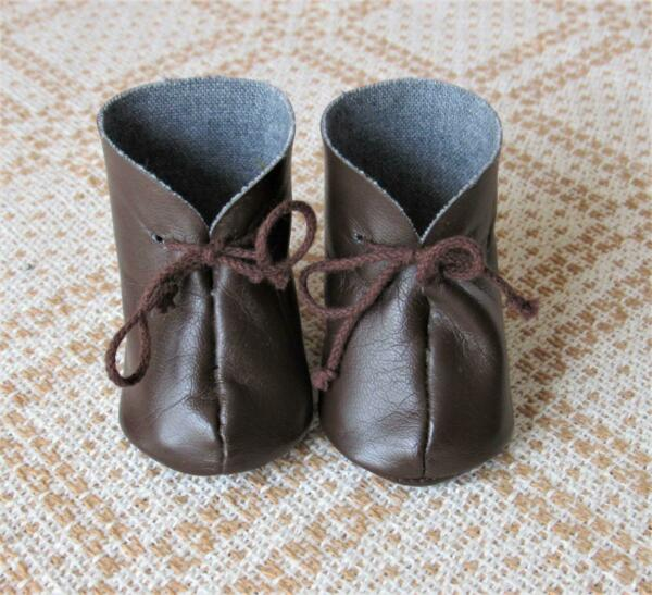 AMERICAN GIRL PLEASANT COMPANY KIRSTEN BROWN BOOTS ONLY 4 MEET OUTFIT w LACES