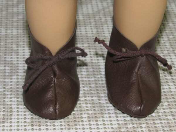 AMERICAN GIRL PLEASANT COMPANY KIRSTEN BROWN BOOTS ONLY 4 MEET OUTFIT SOFT SOLES
